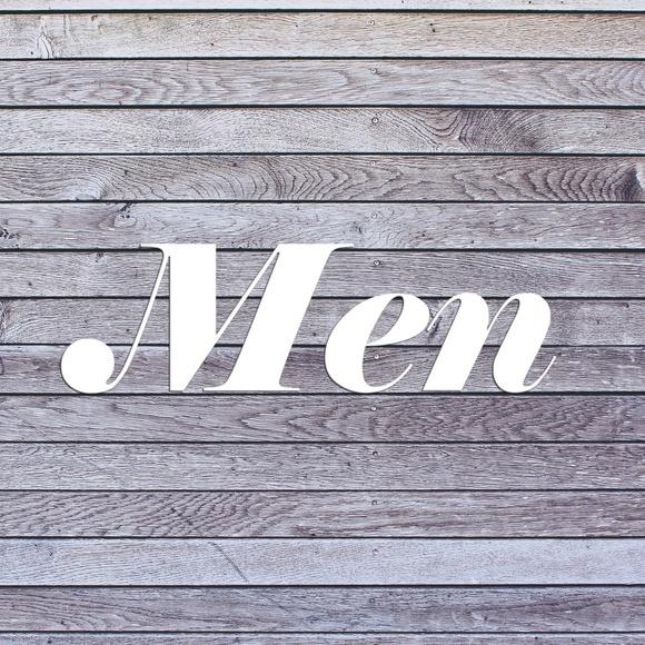 Men Items Below this Sign V